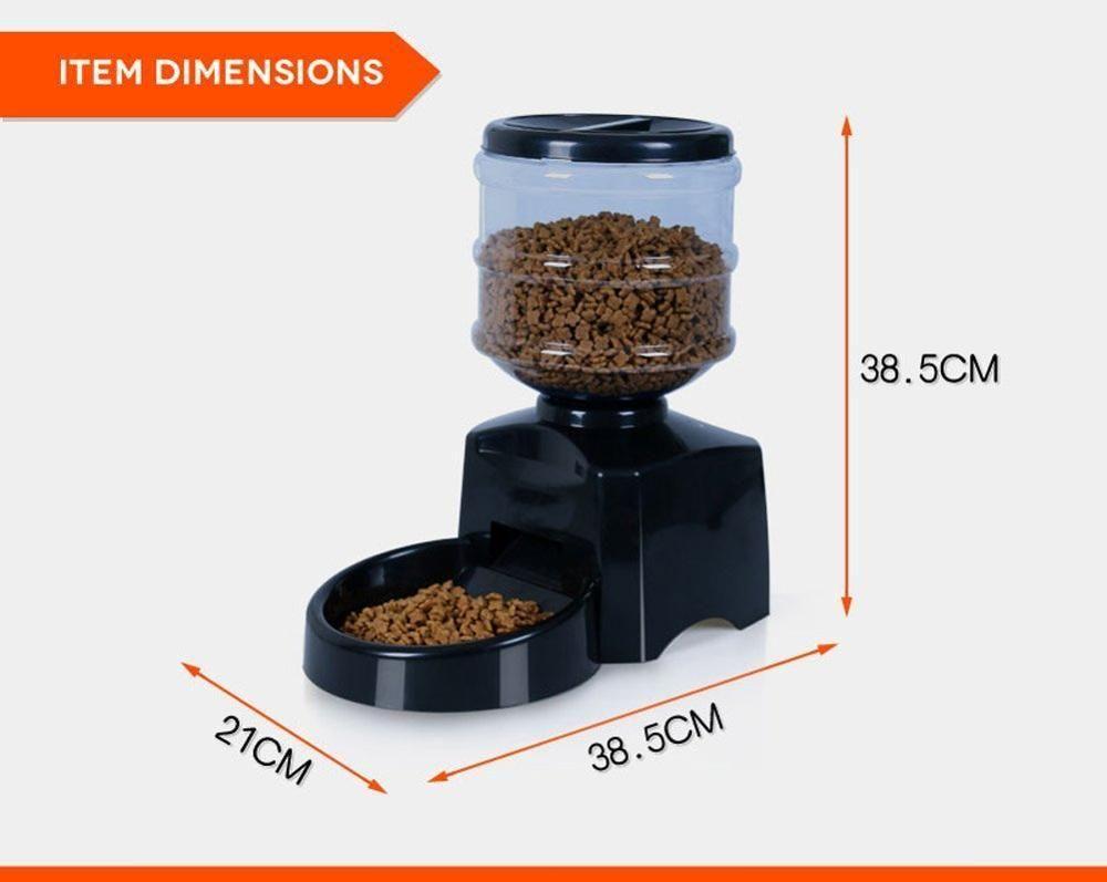 5 5l High Quality New Automatic Pet Feeder Food Dish Bowl
