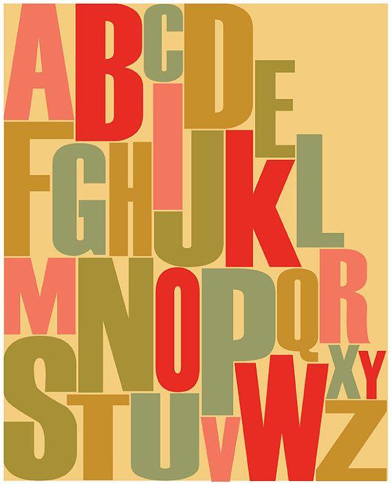 Modern Nursery Print / Letters Art \