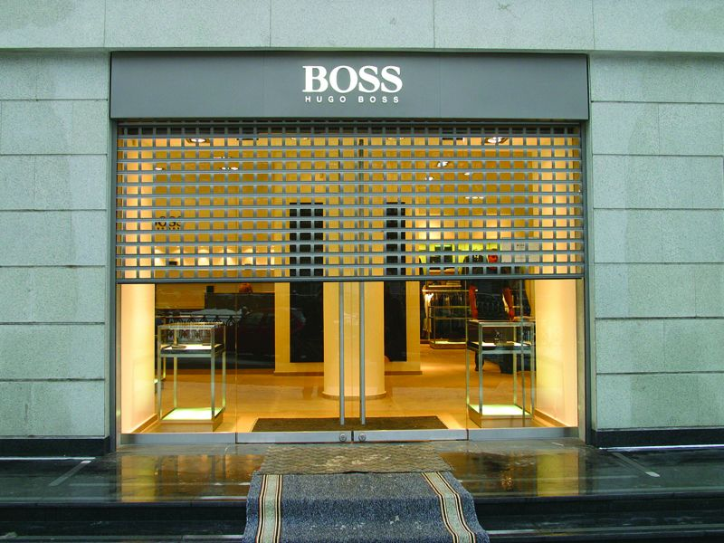 RSG5600 Shop Front Punched Roller Shutters fitted to the main door of a branded shop in & 25 best Security Shutters images on Pinterest | Roller shutters ...