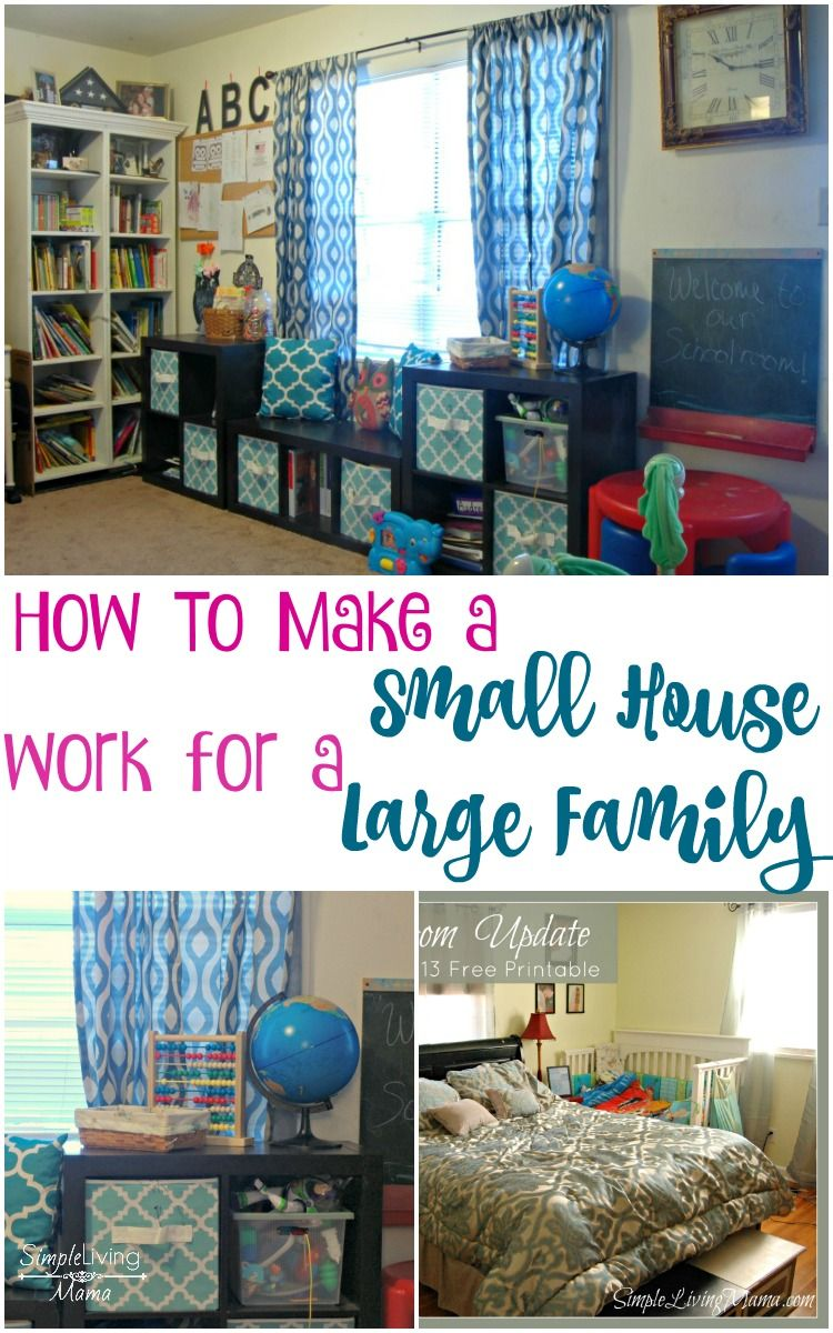 How To Make A Small House Work For A Large Family Simple Living Mama Small House Organization Large Family Organization Small House Decorating