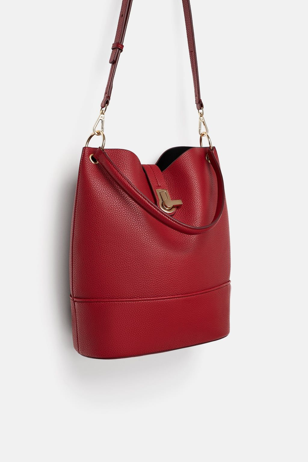 8c2fd1b1a93c7 Image 1 of BUCKET BAG WITH METAL CLASP from Zara