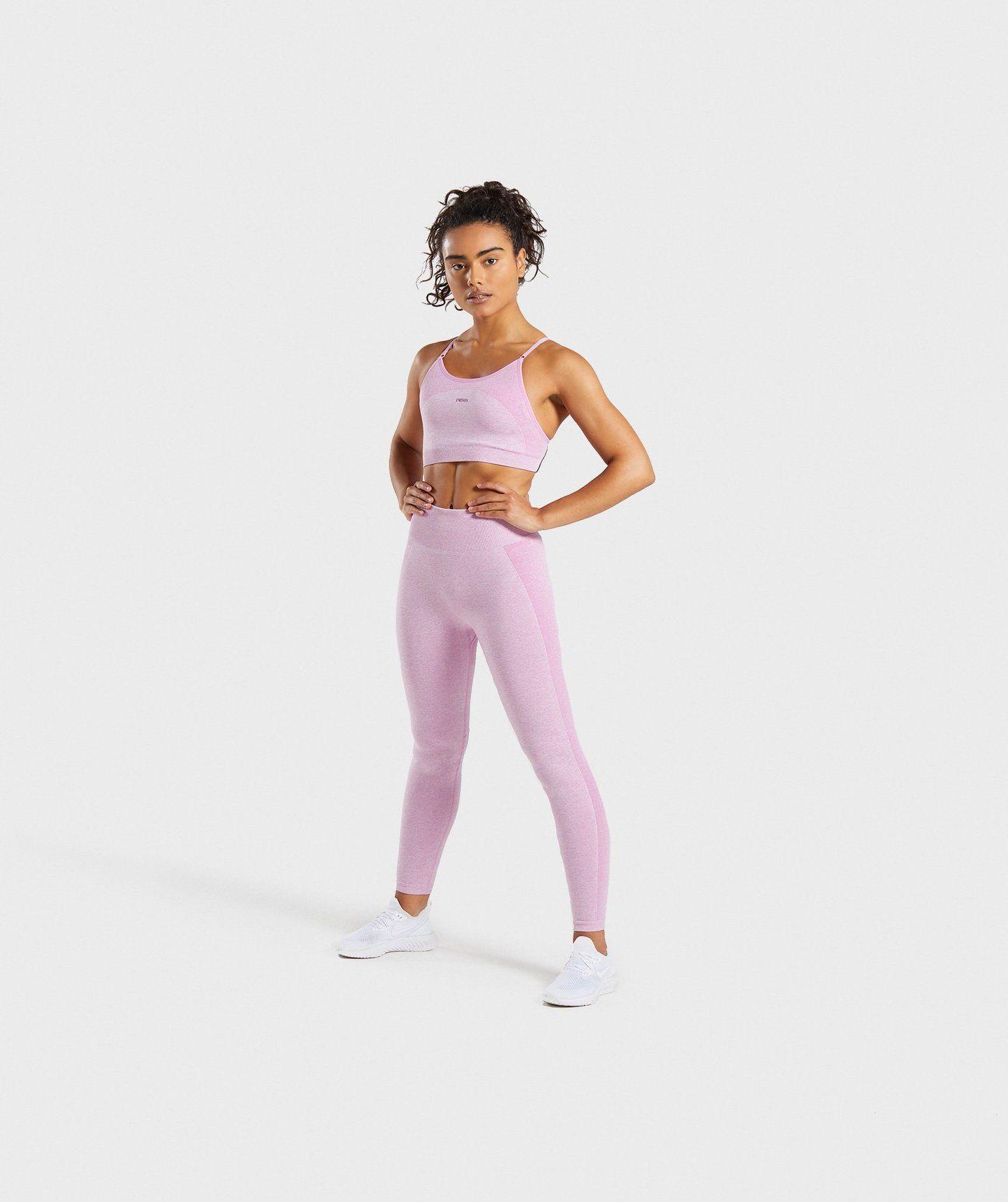 Gymshark Flex Strappy Sports Bra Pink Pink sports bra