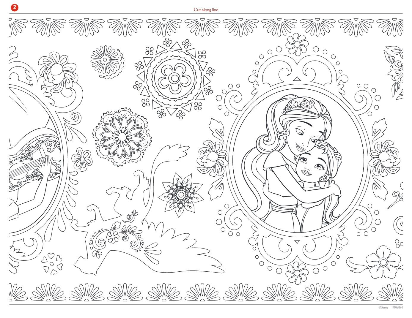Princess elena coloring page