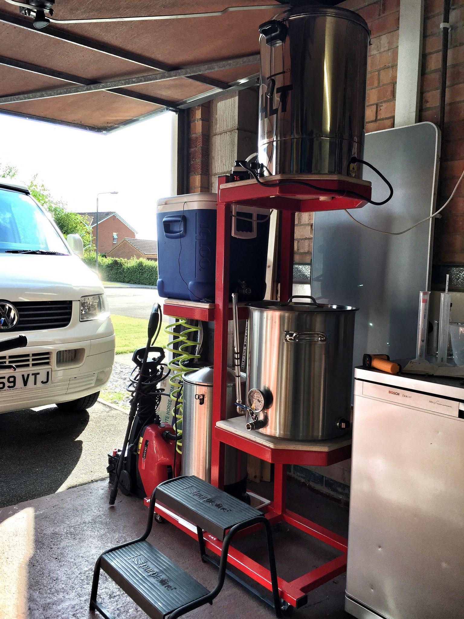 Best Kitchen Gallery: Homebrew Stand In Garage Brewery Homebrewing Pinterest Homebrewing of Homebrew Garage Setup on rachelxblog.com