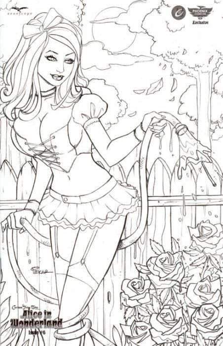 Grimm Fairy Tales Presents: Alice in Wonderland Issue # 6d | amor ...
