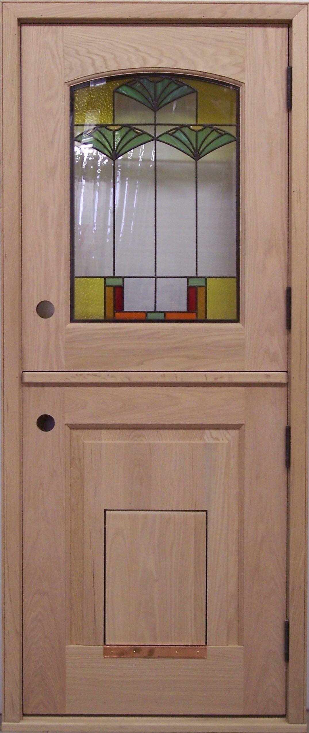 Exterior Dutch Door | DD219 Glass Panel Model with Pet Door | www ...
