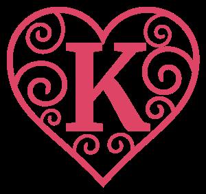 Heart Alphabet Heart Letters Valentine Letters SVG Heart Monogram Valentine Alphabet Valentine Monogram