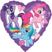Foil Heart My Little Pony Balloon - Party City