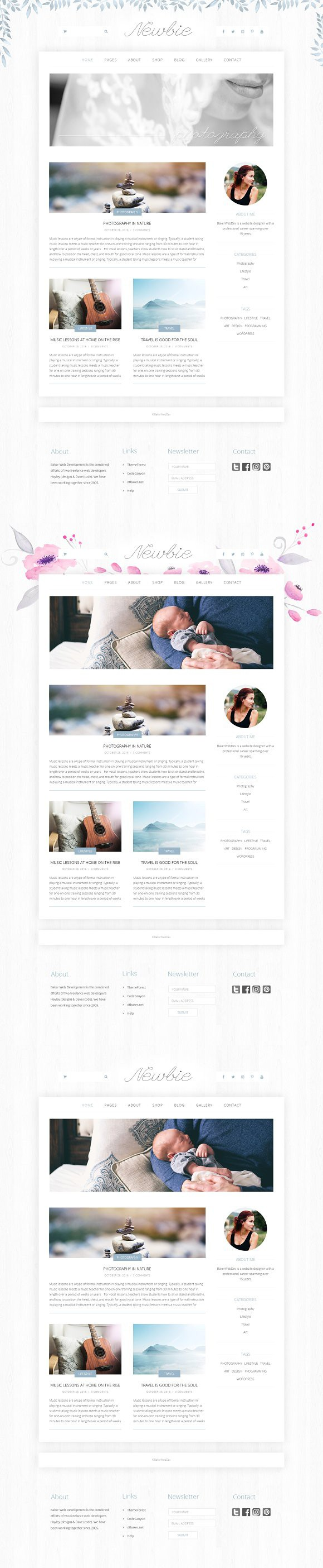 Newbie Website Template PSD. Website Templates | Website Templates ...