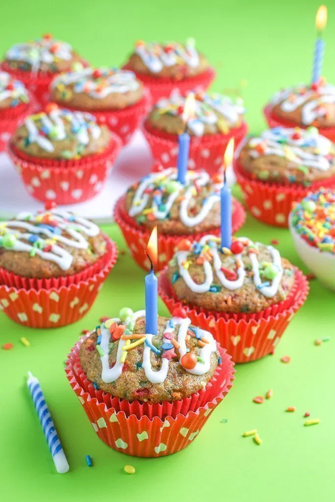 Sensational Birthday Cake Muffins Recipe Muffin Recipes Cute Desserts Funny Birthday Cards Online Eattedamsfinfo