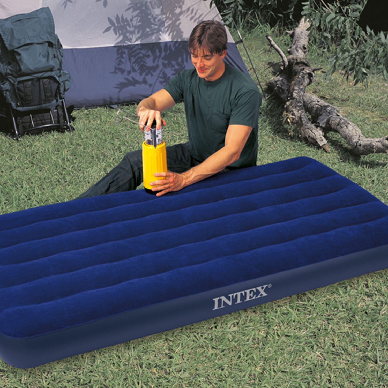 Intex 8 75 Classic Downy Inflatable Airbed Mattress Twin Walmart Com Intex Twin Air Mattress Air Bed