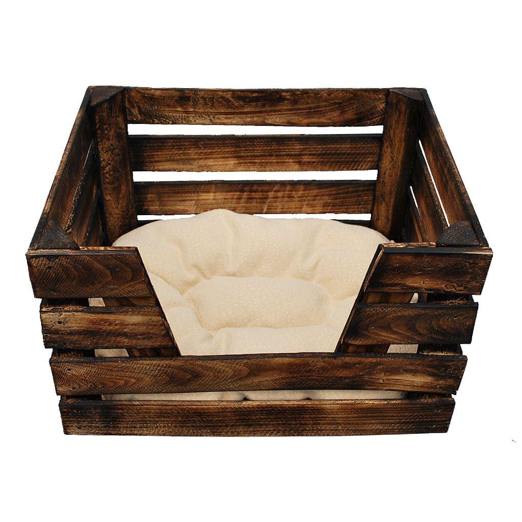 katzenbett selber bauen eine anleitung obstkiste katzenkorb katzenh hle pinterest. Black Bedroom Furniture Sets. Home Design Ideas