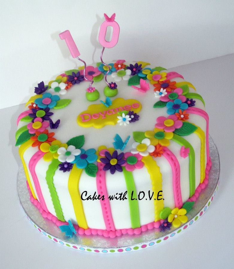 They requested a fun colorful cake for their little girl turning 10