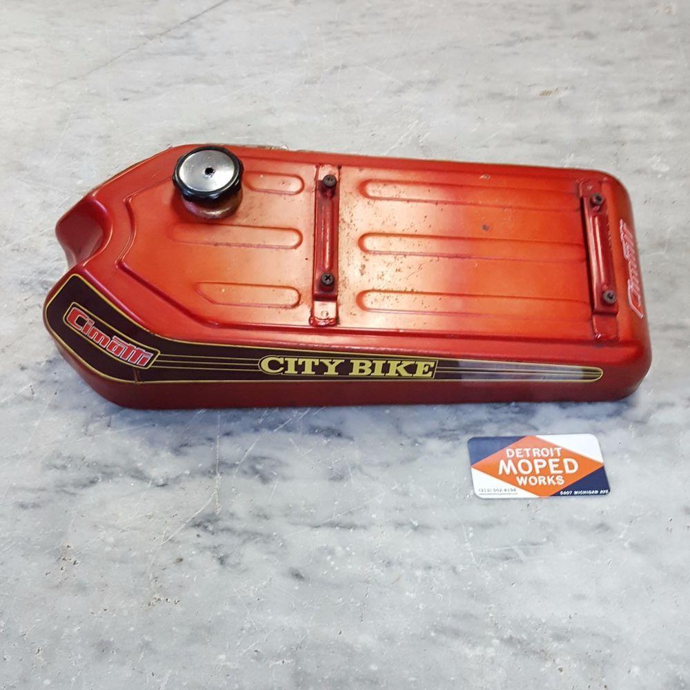hight resolution of vintage cimatti city bike moped fuel gas tank morini minarelli two stroke retro cimatti