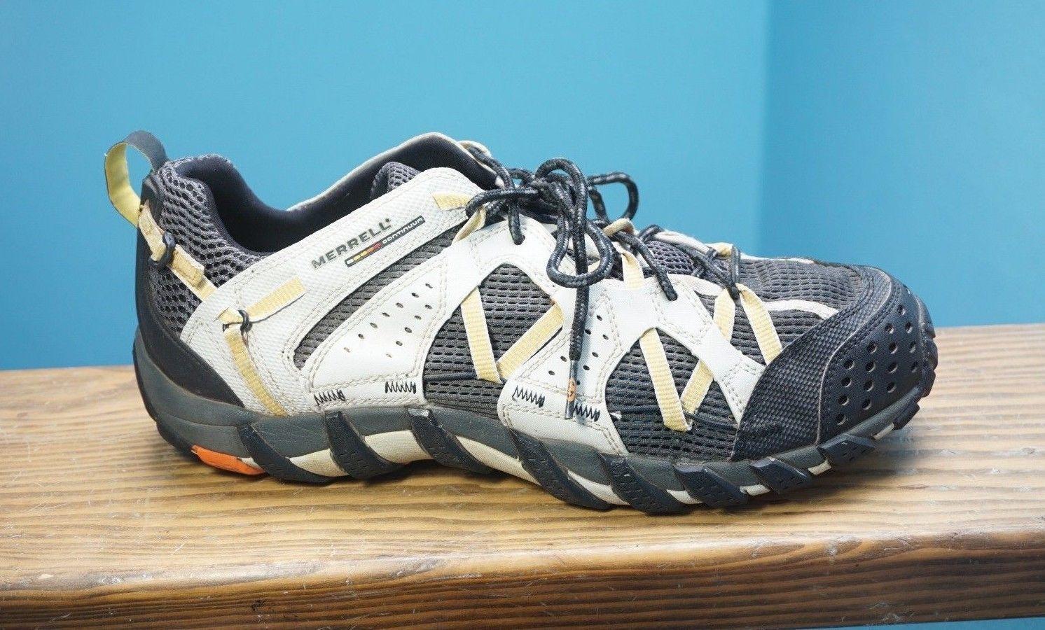 2225a8f155d9 Men s Merrell Waterpro Maipo White Charcoal Yellow Water Shoes Hiking 11  Nice!
