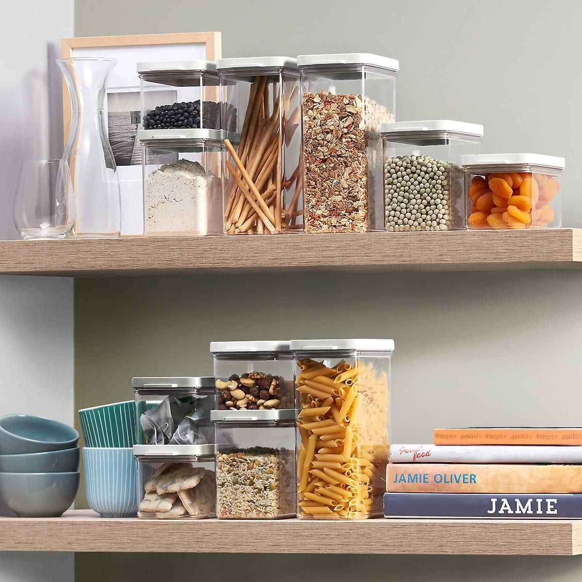 These Stackable Food Storage Containers Are A Perfect Space Saver