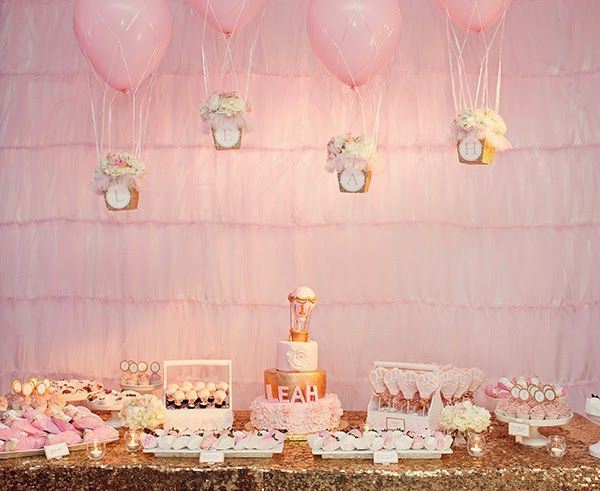 Hot Air Balloon Themed Girl S First Birthday Party Courtlyn S