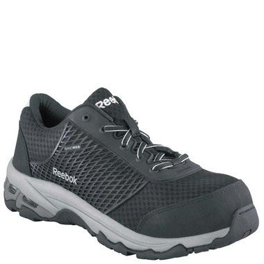 The Mens Reebok RB4625 Heckler work shoe features a protective composite  safety toe and is non metallic  Reebok Safety Toe Work Shoes  Pinterest
