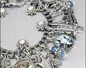 Harry Potter Charm Bracelet, Silver Charm Bracelet, Inspired by Harry Potter Jewelry, Book of Spells