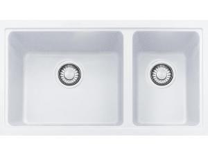 Franke Granite 1 2/3 Bowl UM Sink Polar White