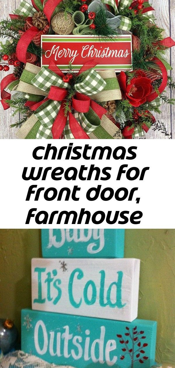 Christmas wreaths for front door, farmhouse decor, traditional decoration, merry christmas sign, rus #doubledoorwreaths