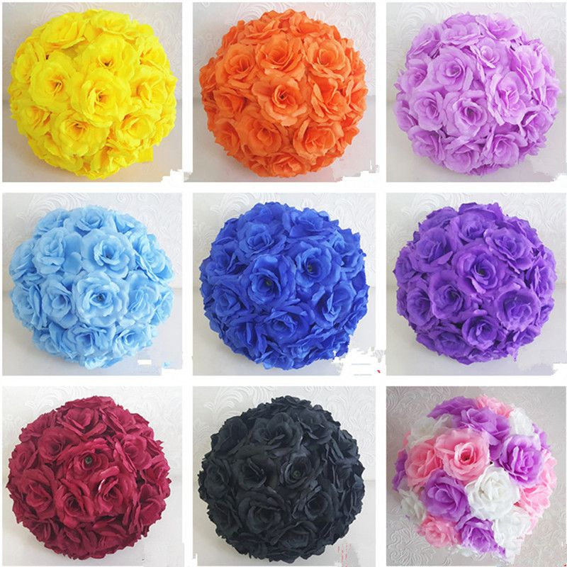 Cheap Kissing Ball 30cm Buy Quality Silk Flower Ball Directly From China Flower Ball Suppliers Upscale Wh Flower Ball Silk Flowers Kissing Ball