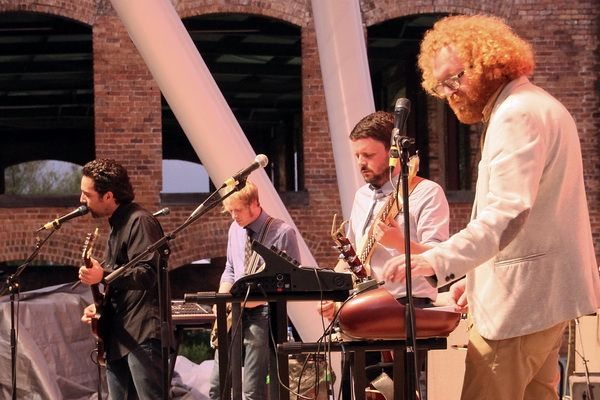 Blitzen Trapper performing on the WYFF4 Main Stage
