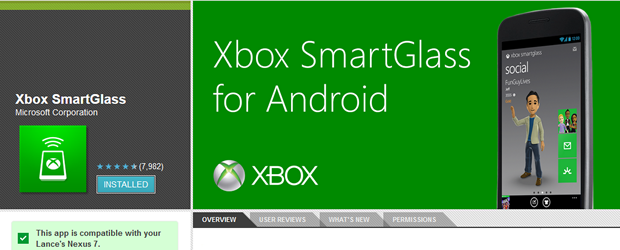Xbox SmartGlass Android app now supports 7inch tablets