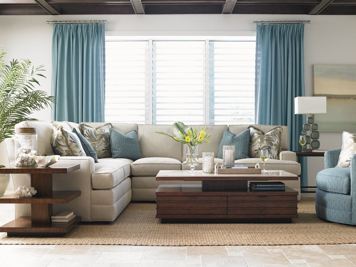 Blue Living Room Curtain Ideas Modern House with regard to ...