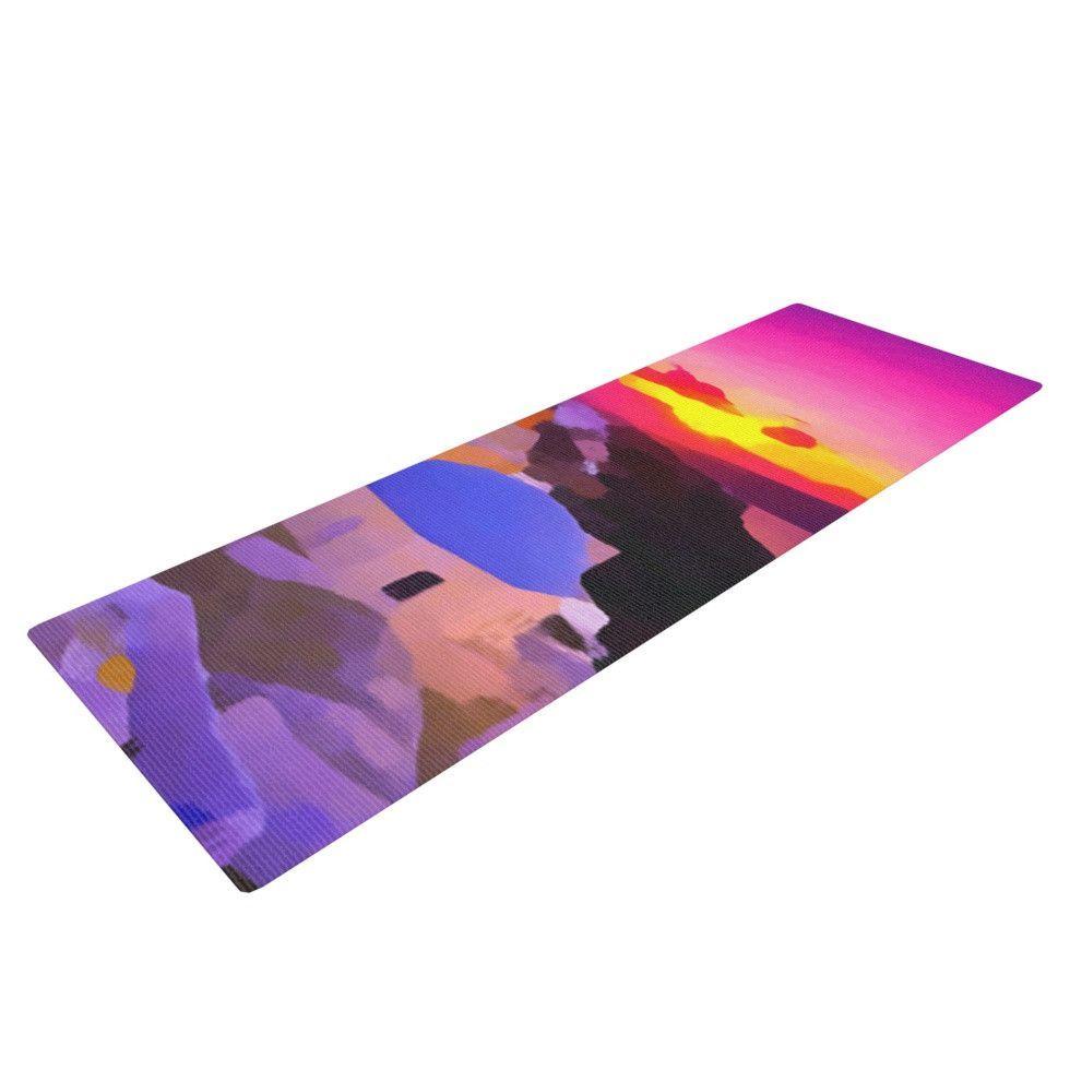 "Oriana Cordero ""My Konos"" Pink Sunset Yoga Mat"