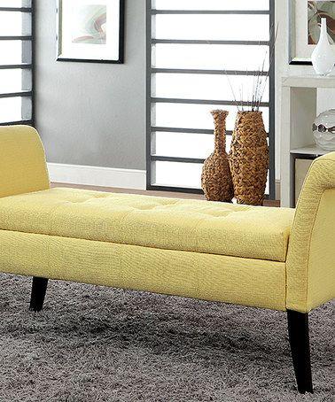 Yellow Marissa Storage Bench Furniture Tufted Storage Bench Storage Bench
