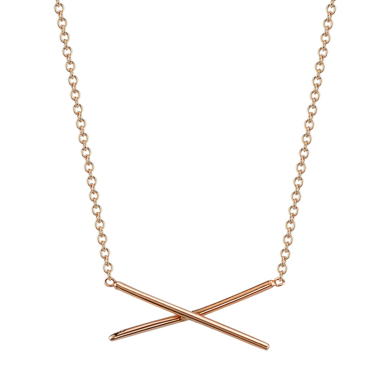 X Necklace Los angeles california Gold jewellery and Store