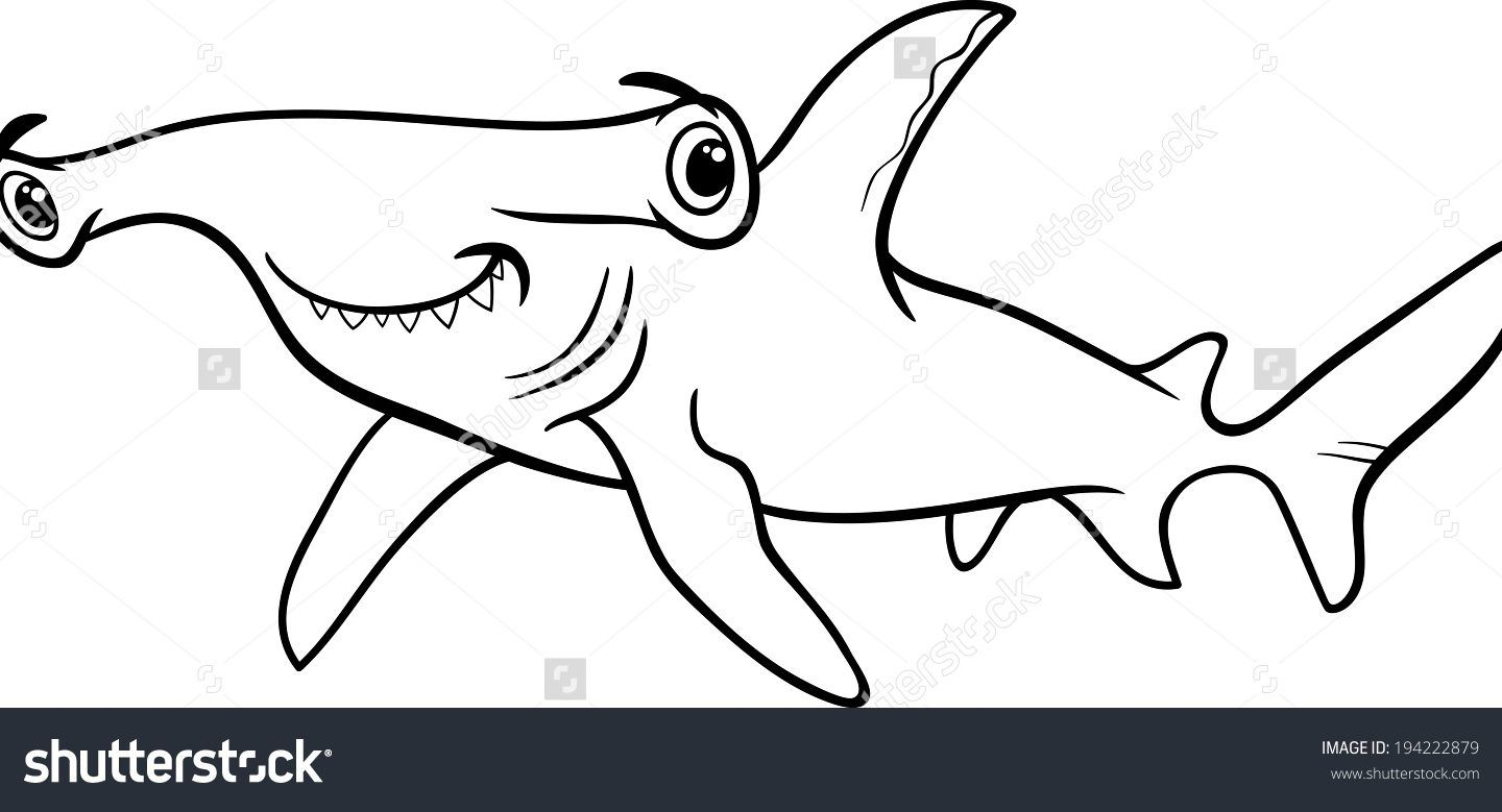 Hammerhead Shark Coloring Pages Free in 22  Shark coloring