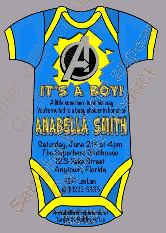 Superhero Avengers Baby Shower It's a Boy Party by CraftyHooves