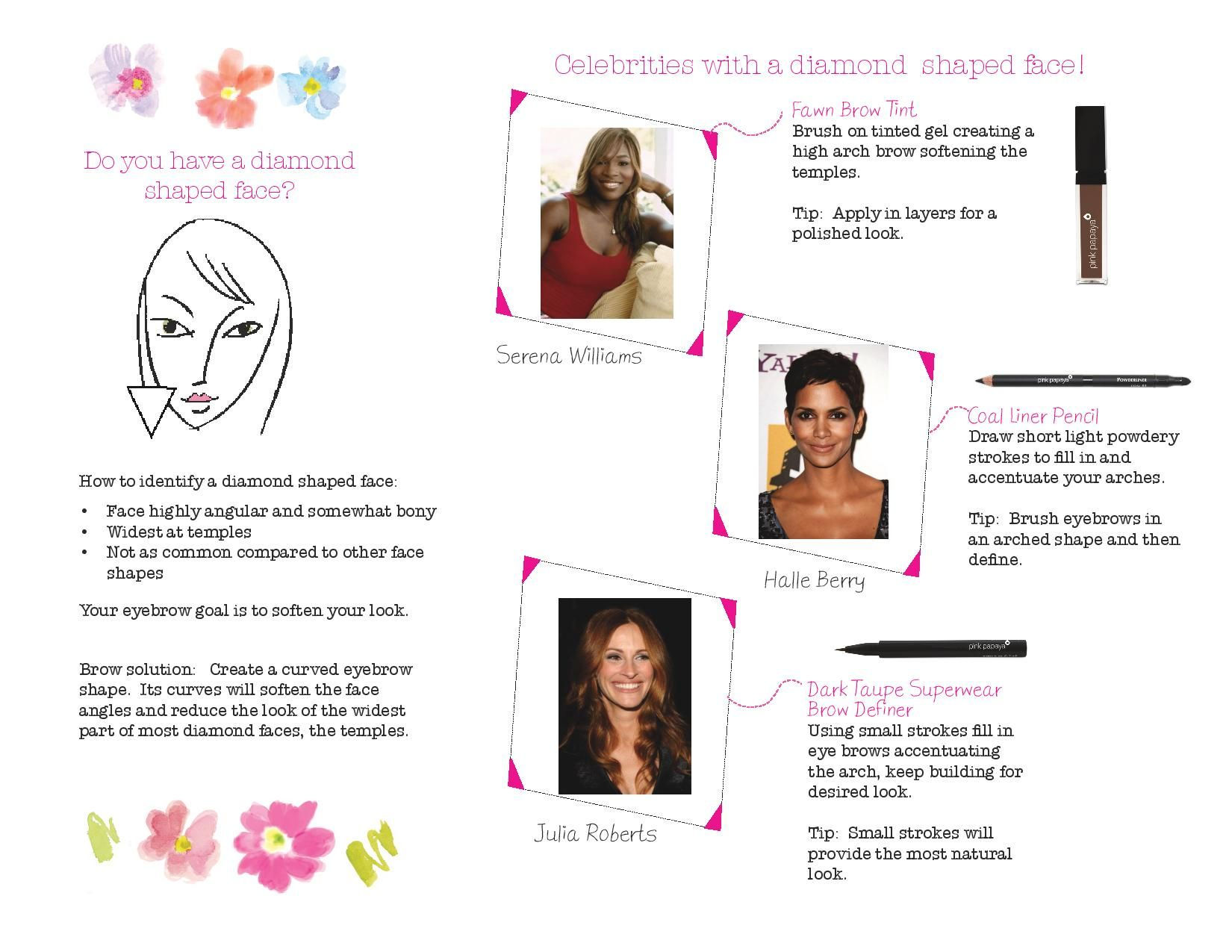 Brows 101 - Do you have a diamond shaped face?