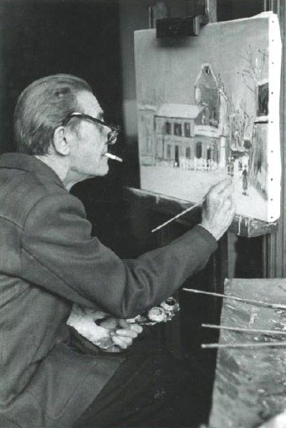 chagalov:  Maurice Utrillo au chevalet, ca 1950 -by Izis  [+]  via rossini