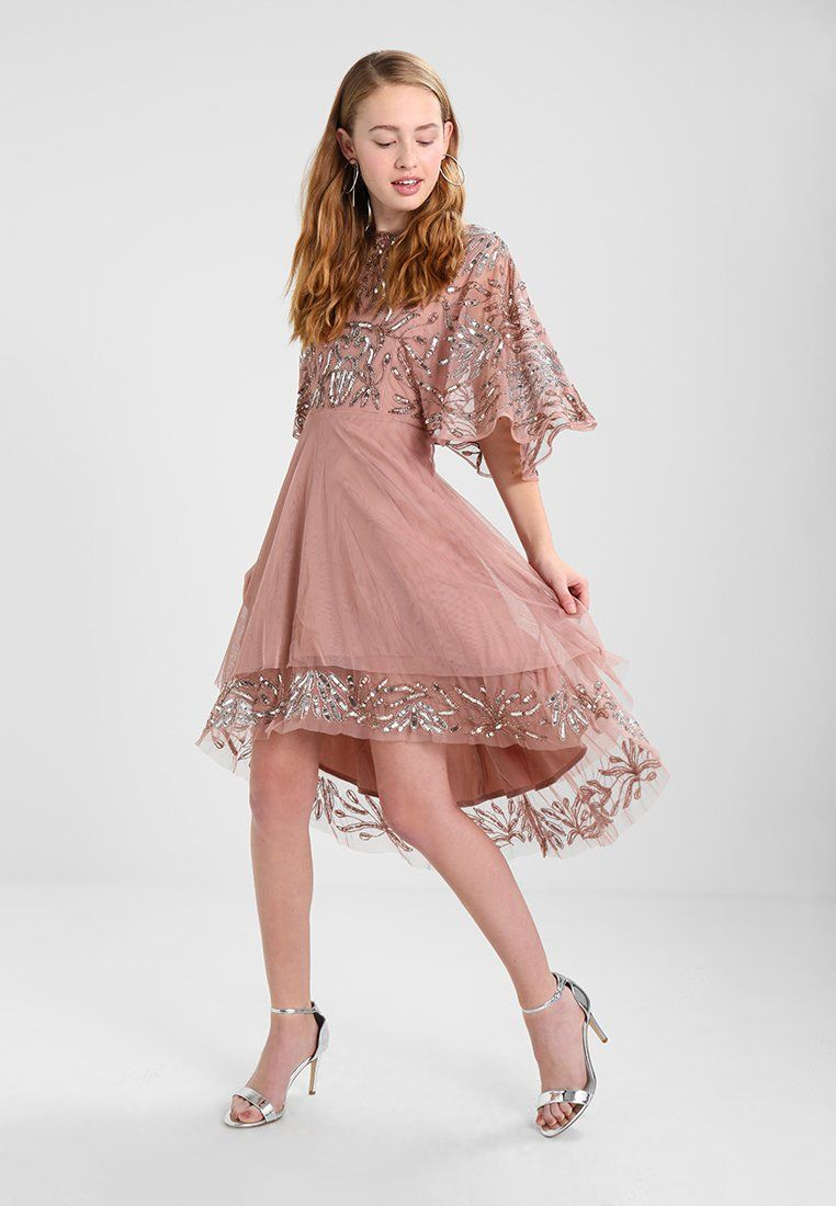 HIGH LOW FLOATY DRESS - Cocktailkleid/festliches Kleid - pink ...