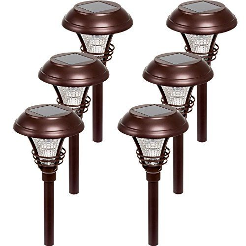 Westinghouse Kenbury 10 Lumens Led Garden Solar Path Lights Bronze 6 Pack Be Sure To Check Out This Awesome Prod Solar Path Lights Path Lights Led Gardening