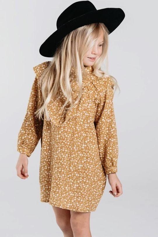 c578b3d060a9 Long Sleeve Ruffle Dress Outfit Ideas For Girls