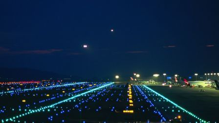 Superb Airport Lights Runway City HD Wallpaper Great Ideas