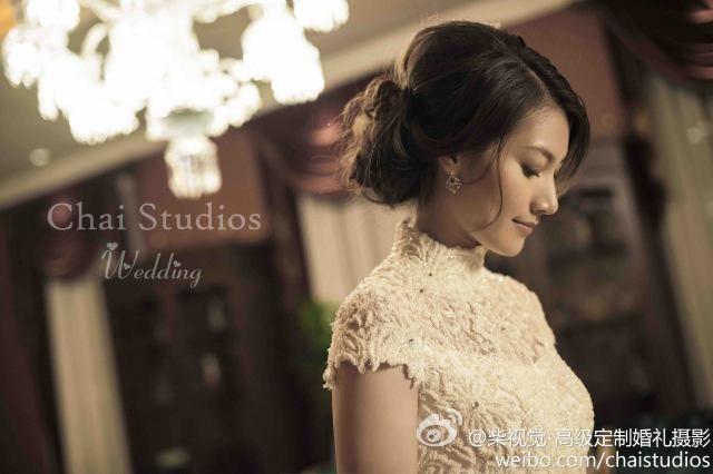 White Lacy Qipao Also Lovin The Hairdo Beaut Pinterest