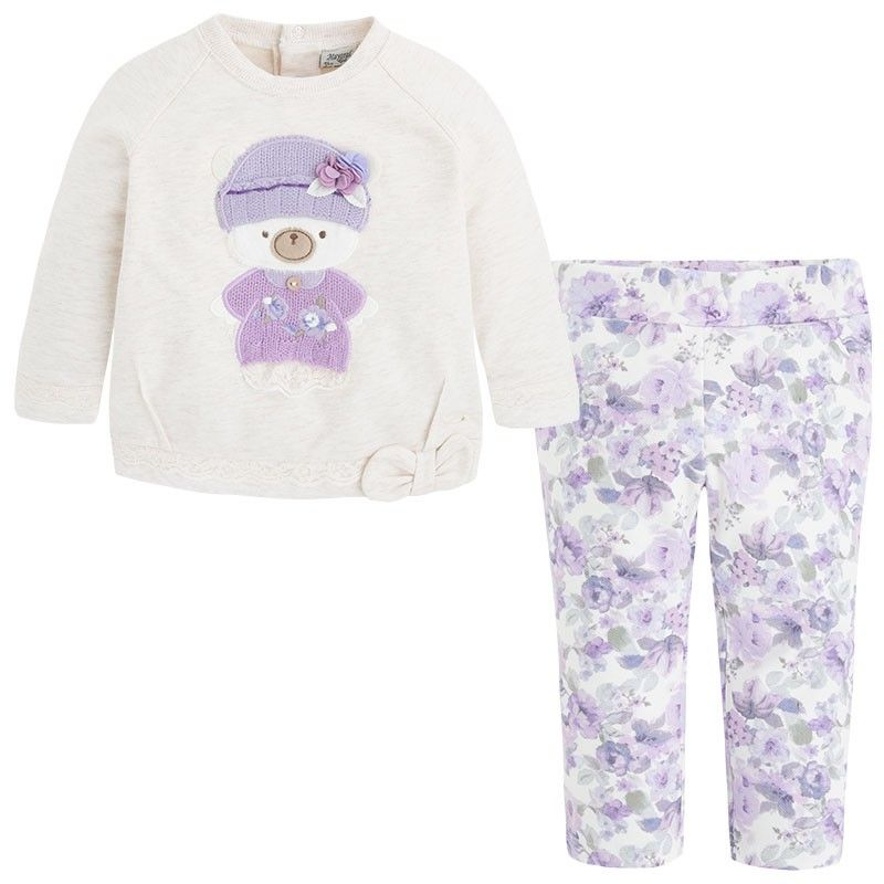 Mayoral // Lilac Bear Legging Set