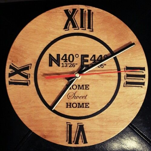 Wall clock, Coordinates, Home sweet home, DIY, Woodworking
