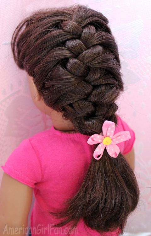 How To Make A Doll French Braid Ag Doll Hair Care Styles Accessories Pinterest