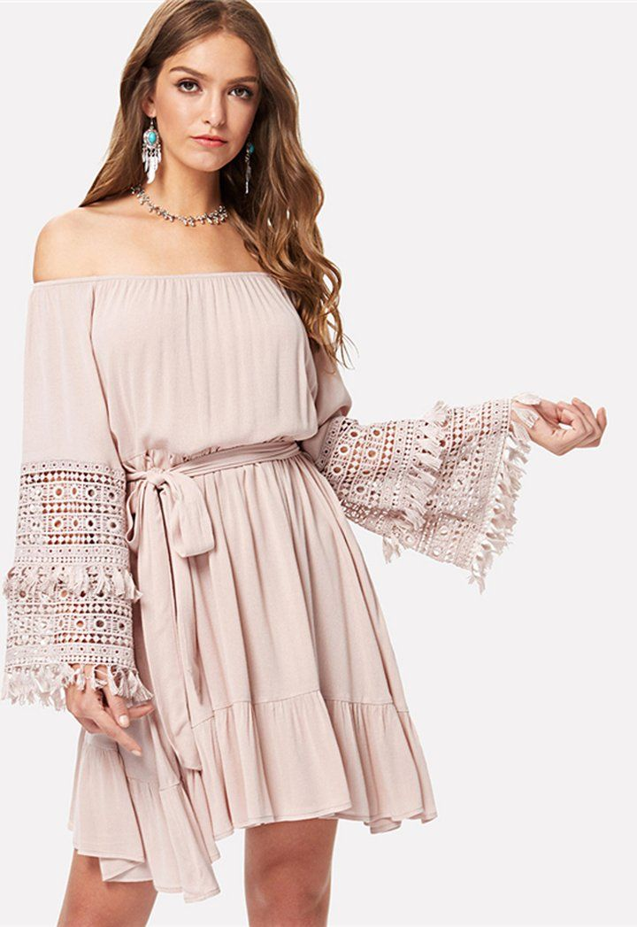 d0af2a2863 Cute Bohemian Dress Summer Outfit Ideas for Women Boho Ruffle Chiffon Mini  Dresses for Teens - ideas de atuendo de vestido boho para mujeres - www.