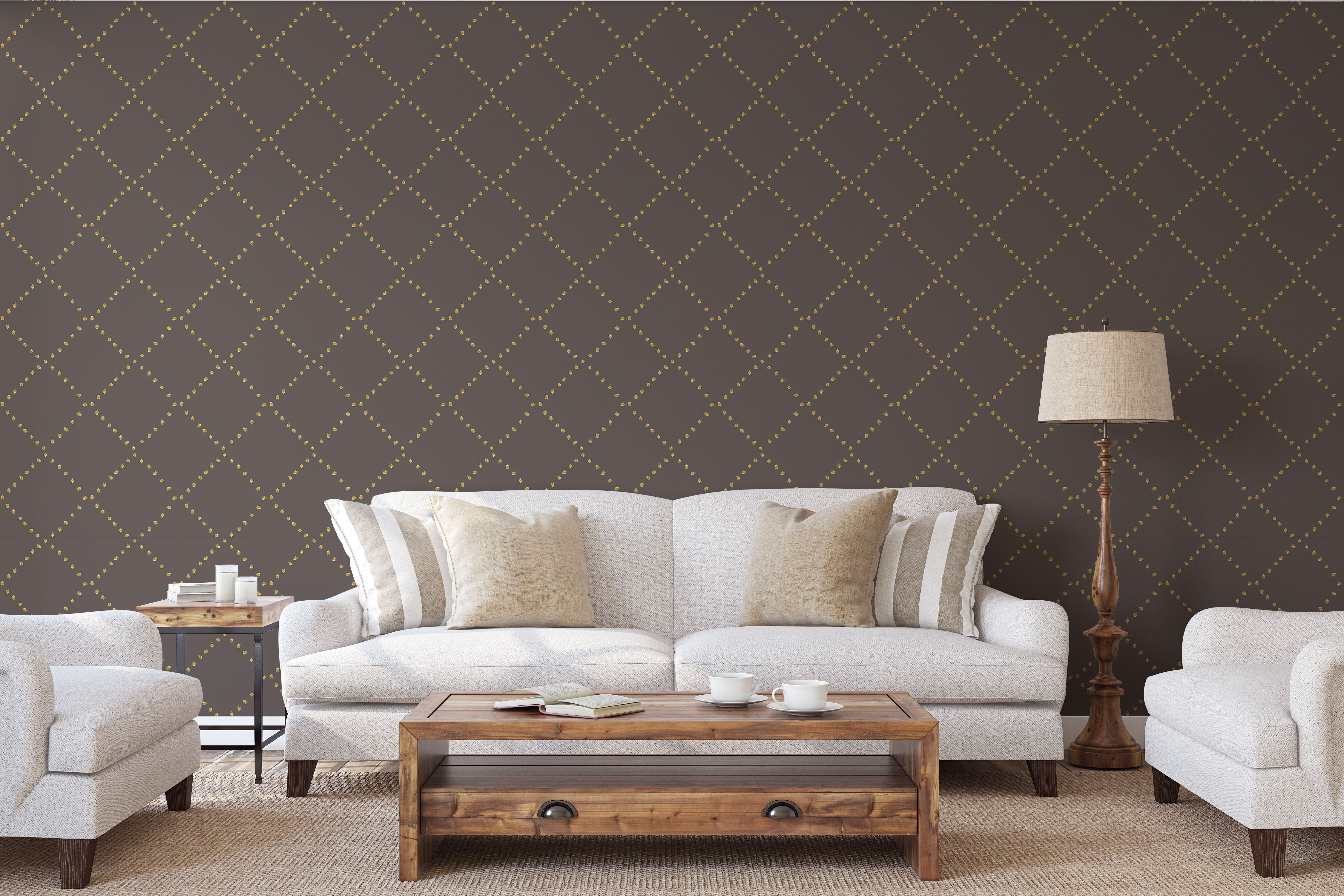 A Modern Design Wallpaper For Your Home That Mixes A Cla