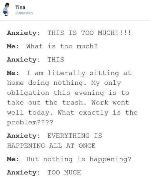 I wish I could actually explain this feeling to people ...