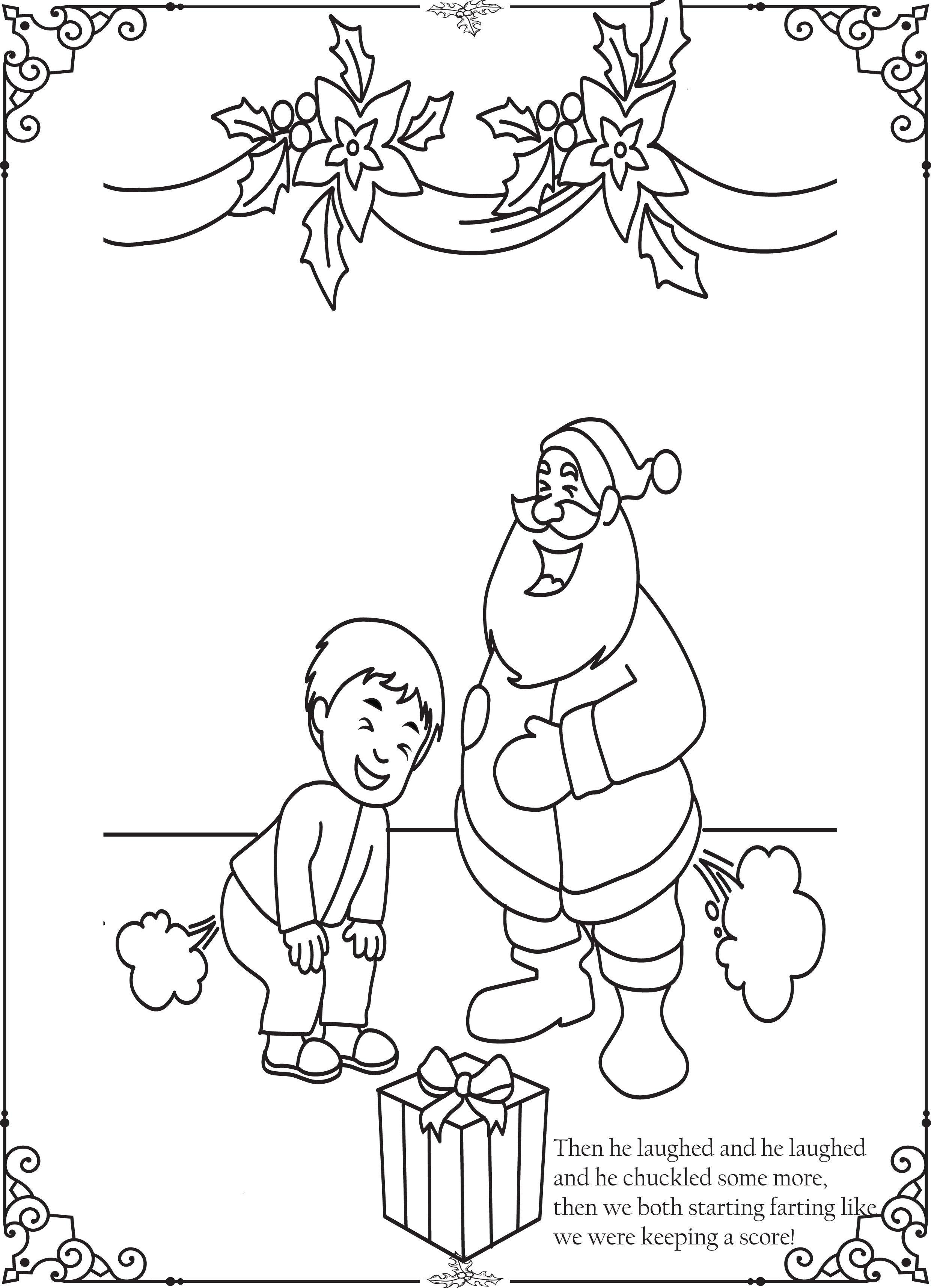 Pin On Funny Christmas Coloring Pages