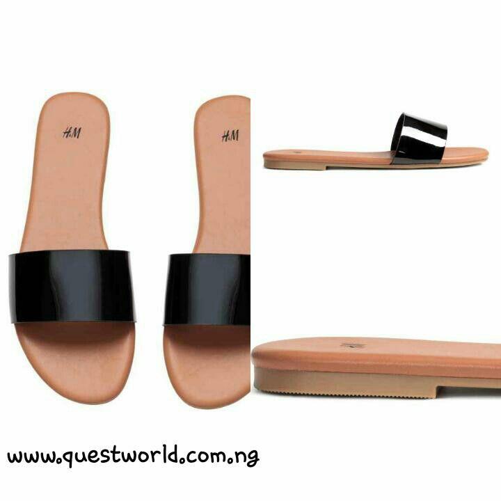 HM Black SlipOn Sandals Size   WwwQuestworldComNg