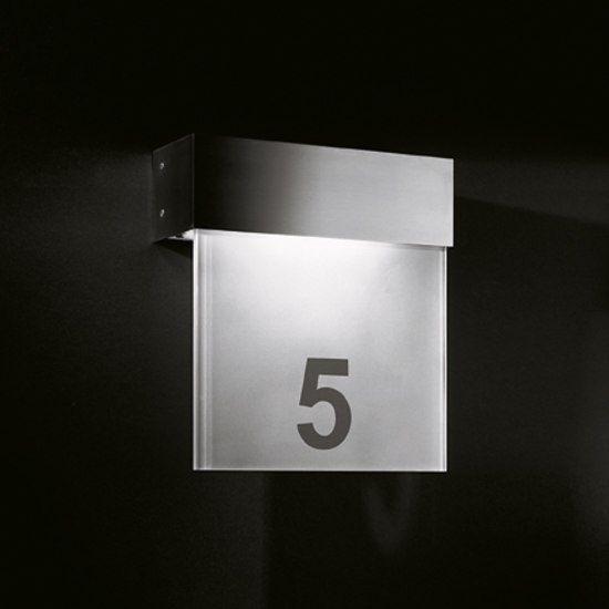 signage - room numbers - illuminated | Hotel Numbers | Pinterest